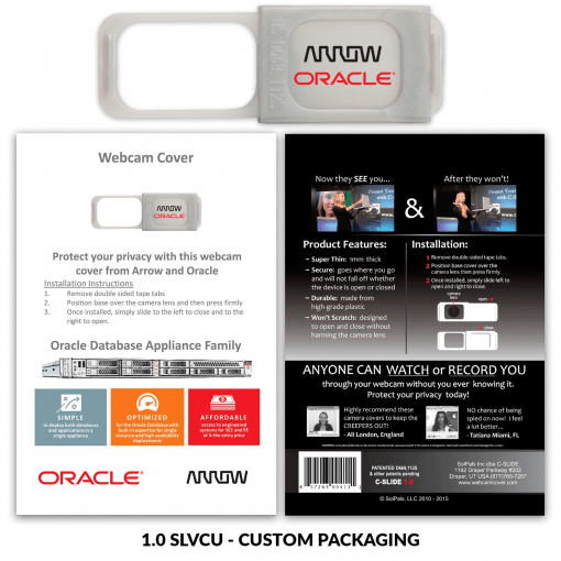 C-SLIDE Webcam Cover 1.0 - Silver + Custom Packaging