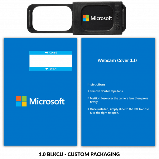 Webcam Cover 1.0 - Black + Custom Packaging