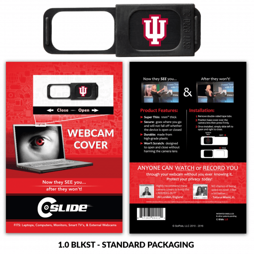 Webcam Cover 1.0 - Black with Standard Packaging