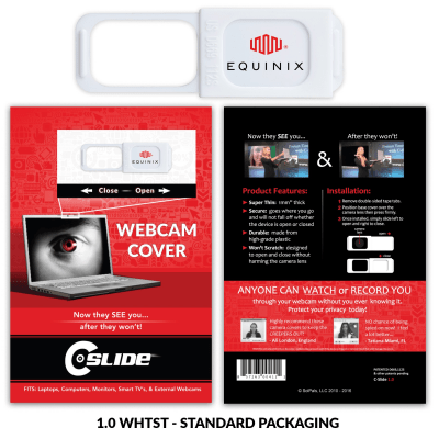 Webcam Cover 1.0 - White with Standard Packaging