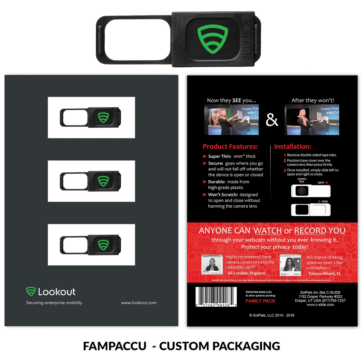 Family Pack 1.0 - Black with Custom Packaging