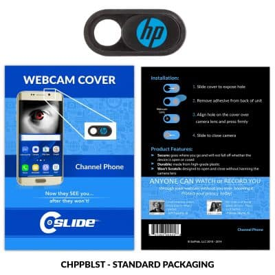 Webcam Cover Channel Phone Black Plastic + Standard Packaging