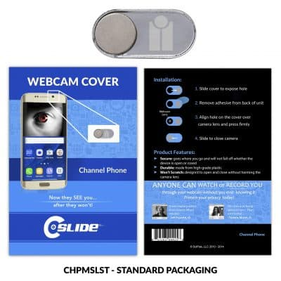Webcam Cover Channel Phone Silver Metal + Standard Packaging