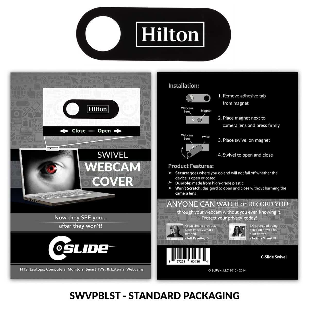 Webcam Cover Swivel Plastic + Standard Packaging