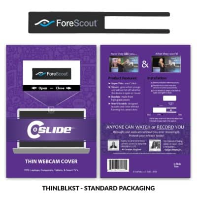 Webcam Cover Thin Long + Standard Packaging
