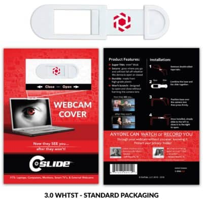 Webcam Cover A2A - White with Standard Packaging