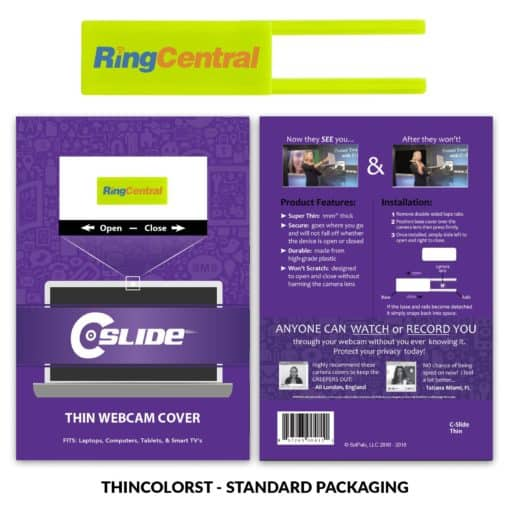 Webcam Cover Lime Green Thin + Standard Packaging