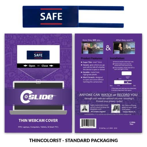 Webcam Cover Navy Blue Thin + Standard Packaging