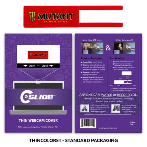 Webcam Cover Red Thin + Standard Packaging