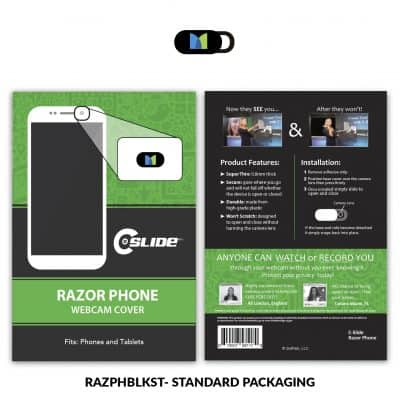 Webcam Cover Razor Phone Black + Standard Packaging