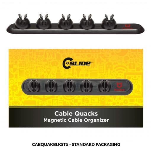 Cable Quacks Black 5 clips + Standard Package