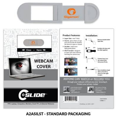 Webcam Cover A2A - Silver with Standard Packaging