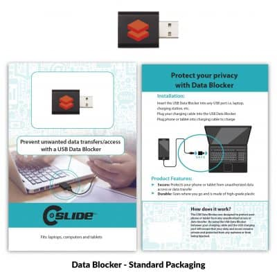 USB Data Blocker Black + Standard Packaging