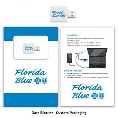 USB Data Blocker White + Custom Packaging