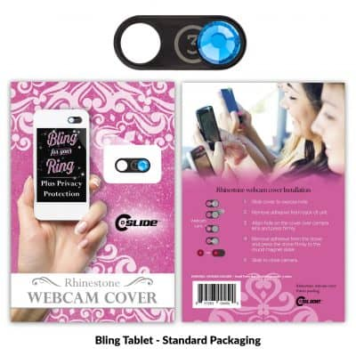 Webcam Cover Bling Tablet Black Metal + Standard Packaging