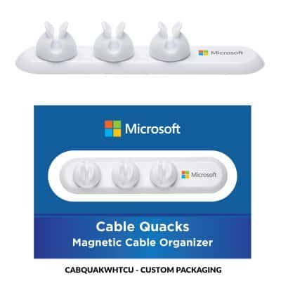 Cable Quacks White 3 clips + Custom Package