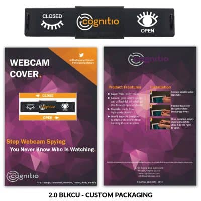 Webcam Cover 2.0 - Black + Custom Packaging