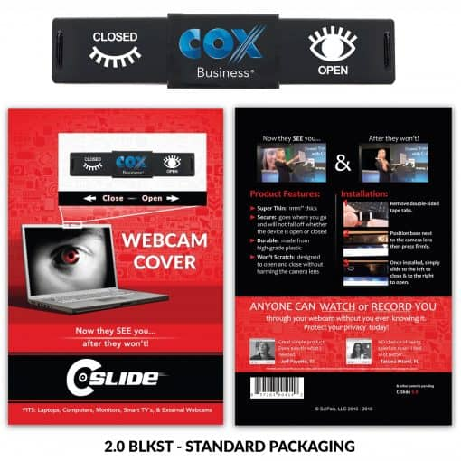 Webcam Cover 2.0 - Black + Standard Packaging