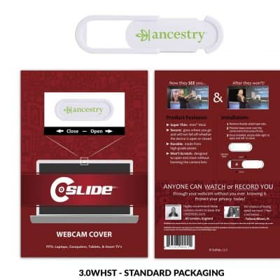 Webcam Cover 3.0 improved - white + Standard Packaging