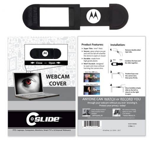 Webcam Cover A2A - Black with Standard Packaging