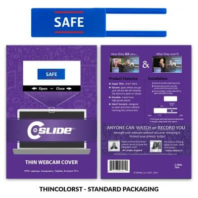 Webcam Cover Blue Thin + Standard Packaging