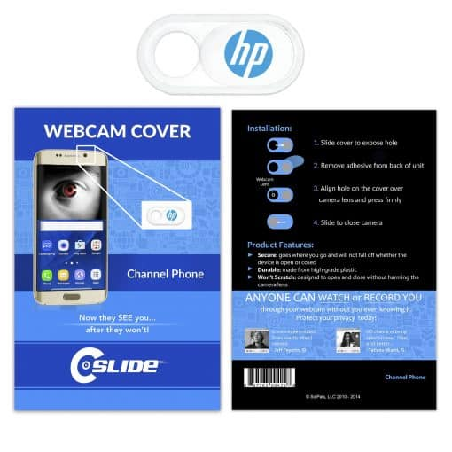 Webcam Cover Channel Phone White Plastic + Standard Packaging