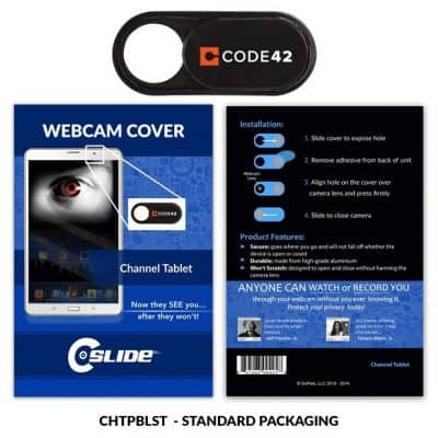 Webcam Cover Channel Tablet Plastic + Standard Packaging