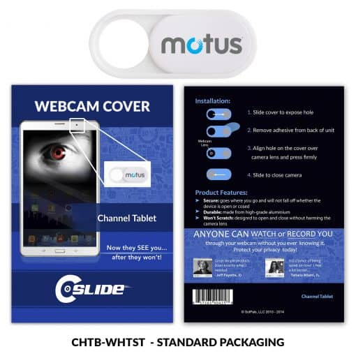 Webcam Cover Channel Tablet Plastic White + Standard Packaging