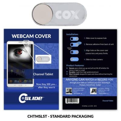 Webcam Cover Channel Tablet Silver Metal + Standard Packaging