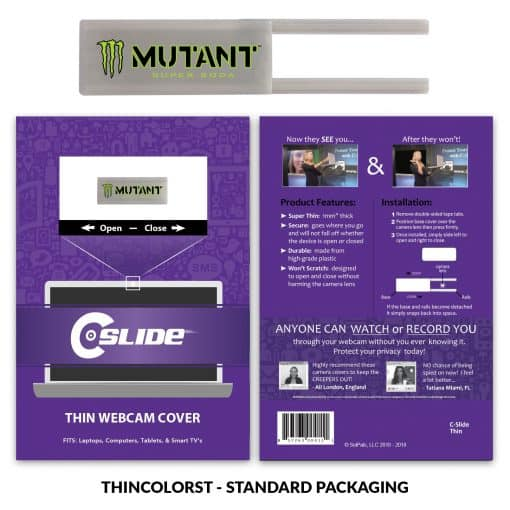Webcam Cover Gray Thin + Standard Packaging