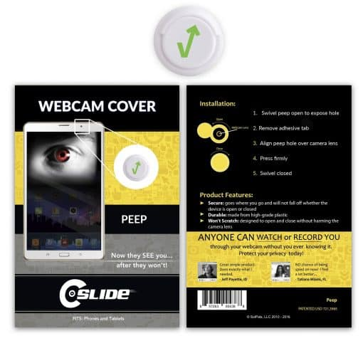 Webcam Cover Peep White + Standard Packaging