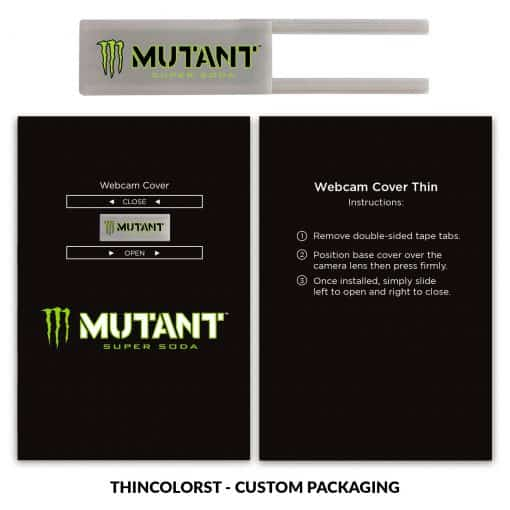 Webcam Cover Silver Thin + Custom Packaging