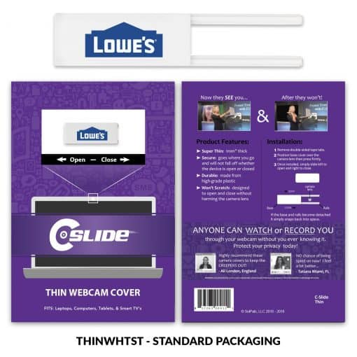 Webcam Cover Thin White + Standard Packaging