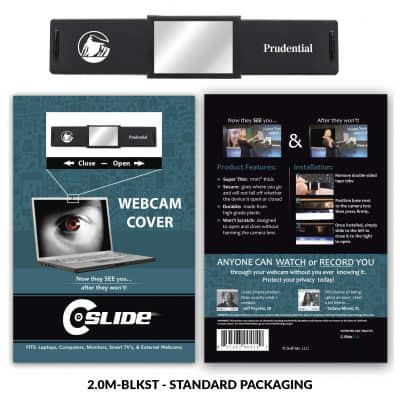 Webcam Cover 2.0 Mirror - Black + Standard Packaging