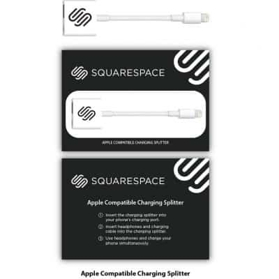 iPhone Lightning Splitter White + Custom Packaging