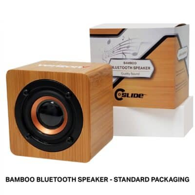 Bamboo Bluetooth Speaker with Standard Packaging