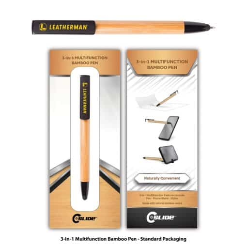 Bamboo 3-in-1 Multifunction Pen with Standard Packaging