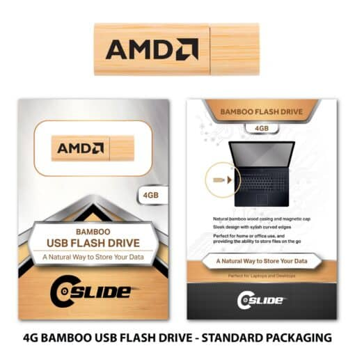 Bamboo Flash Drive 4GB with Standard Packaging