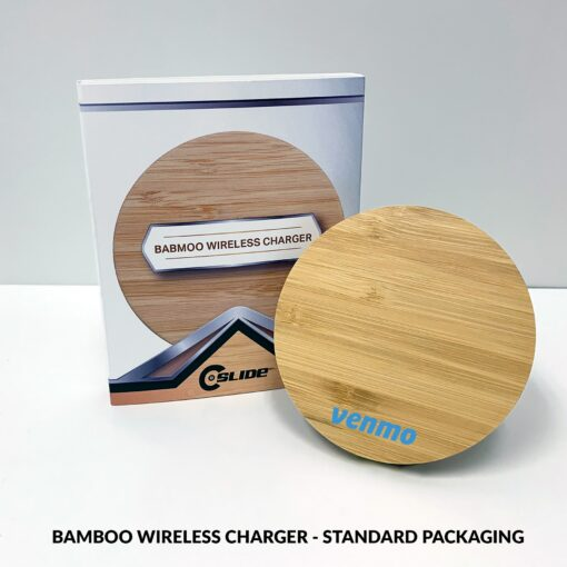 Bamboo Wireless Charger with Standard Packaging