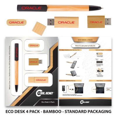 Eco-Desk 4 Pack with Standard Packaging