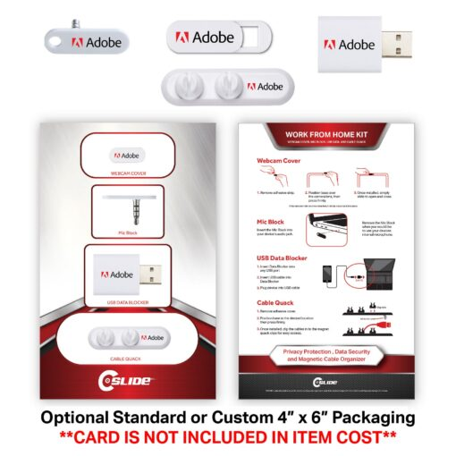 Work From Home 4 Pack with 2 Clip Cable Quack - Standard Packaging